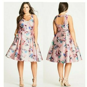 Posey Floral Fit & Flare Dress